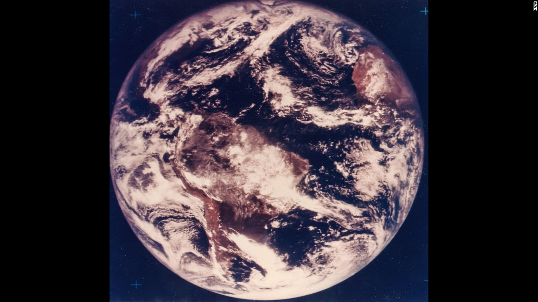 "The first color photograph of Earth was captured on November 10, 1967, five years before the astronauts of Apollo 17 could <a href=""http://visibleearth.nasa.gov/view.php?id=55418"" target=""_blank"">witness it with their own eyes</a>."
