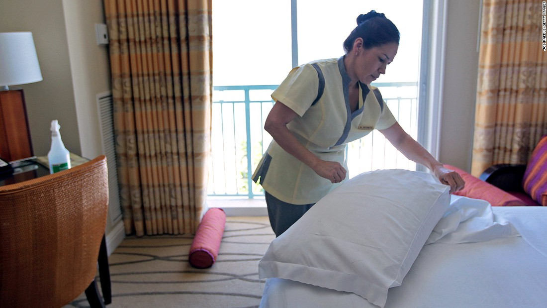 "Those rooms don't tidy themselves. Often unseen, hotel housekeepers rarely get a ""thank you."" You can slip $2 to $5 a day under the pillow to ensure the right person receives it."