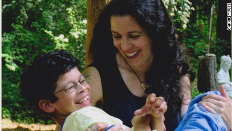 Carrie McGee and her son Alex. When Alex was diagnosed with Williams Syndrome Carrie quit her job to care for him