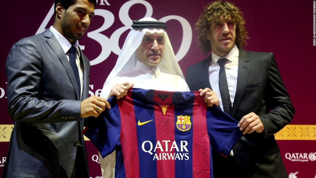 Barcelona signed it's first commercial shirt sponsorship deal with Qatar Airways in 2013, breaking a century long spell of avoiding corporate sponsors.