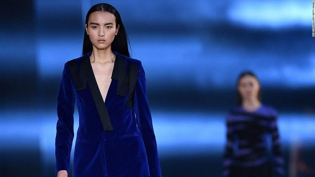 Christopher Kane's velvet suits, tailored to perfection, offered a sexy alternative to the traditional mini dress.