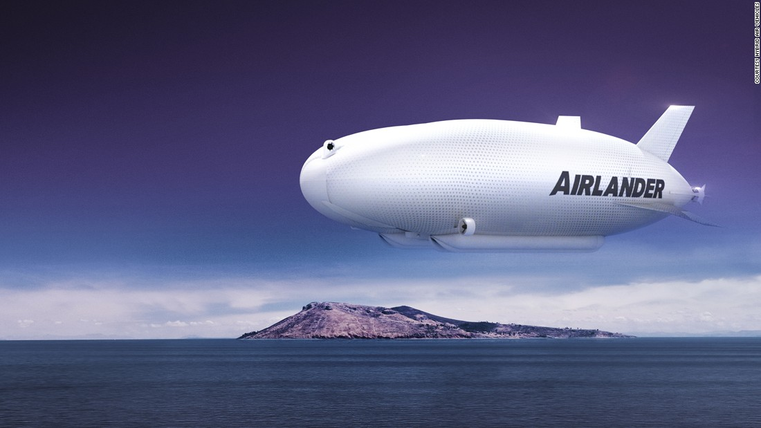 In 2014 British design company Hybrid Air Vehicles brought airships back in fashion with a design for the Airlander 10, a 92-meter-long airship filled with helium.