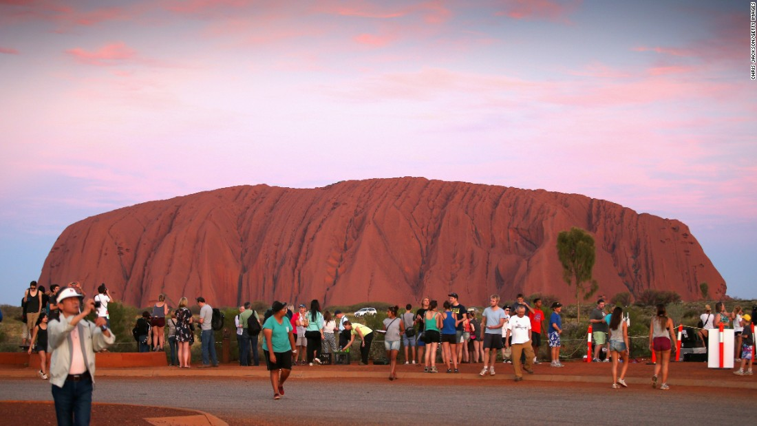 "Ayers Rock, a World Heritage Site, may be the most famous spot at Australia's  <a href=""http://www.parksaustralia.gov.au/uluru/"" target=""_blank"">Uluru-Kata Tjuta National Park.</a>"