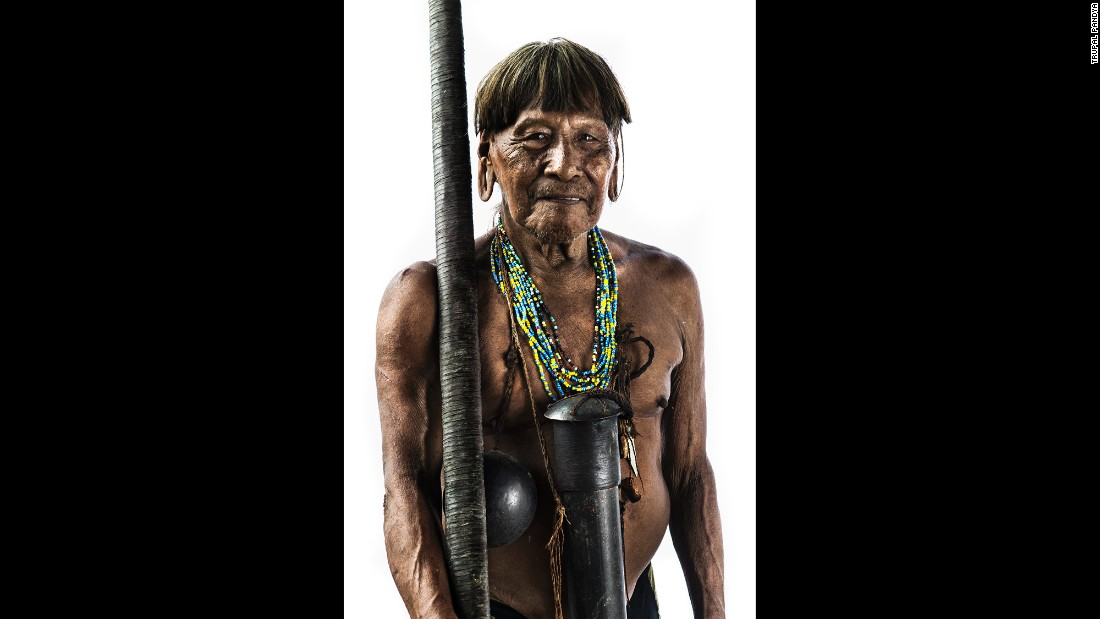Qumperi' is the shaman of the community, Pandya said, and he plays a very important role in the Huaorani culture. He is the healer of the community who has a trusted and vast knowledge of animals, plants and trees, including those which are used as poisons or medicines.