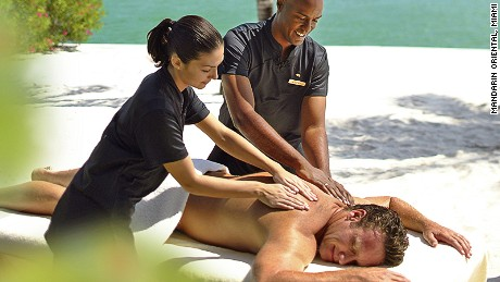 Two masseurs? Two tips? How stressful can a massage get?