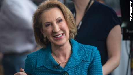 Carly Fiorina, a potential 2016 contender, waits to be interviewed.