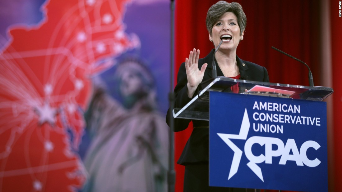 Iowa's Joni Ernst addresses CPAC.