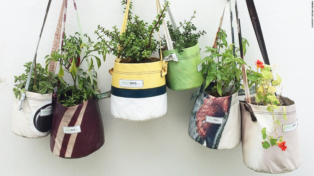 Cape Town-based organization GROWbag creates planters from discarded billboard vinyl. The company has paired with non-profit Soil For Life, which teaches gardening and nutrition to Capetonians.