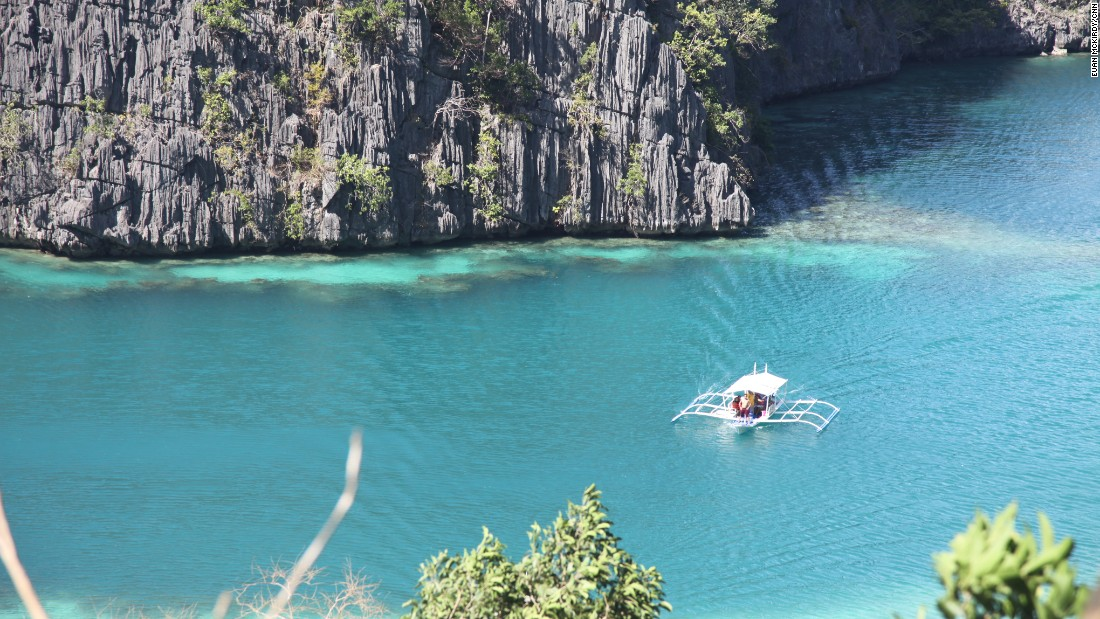 Parts of the island chain of Palawan are characterized by dramatic limestone karsts that plunge into the sea.