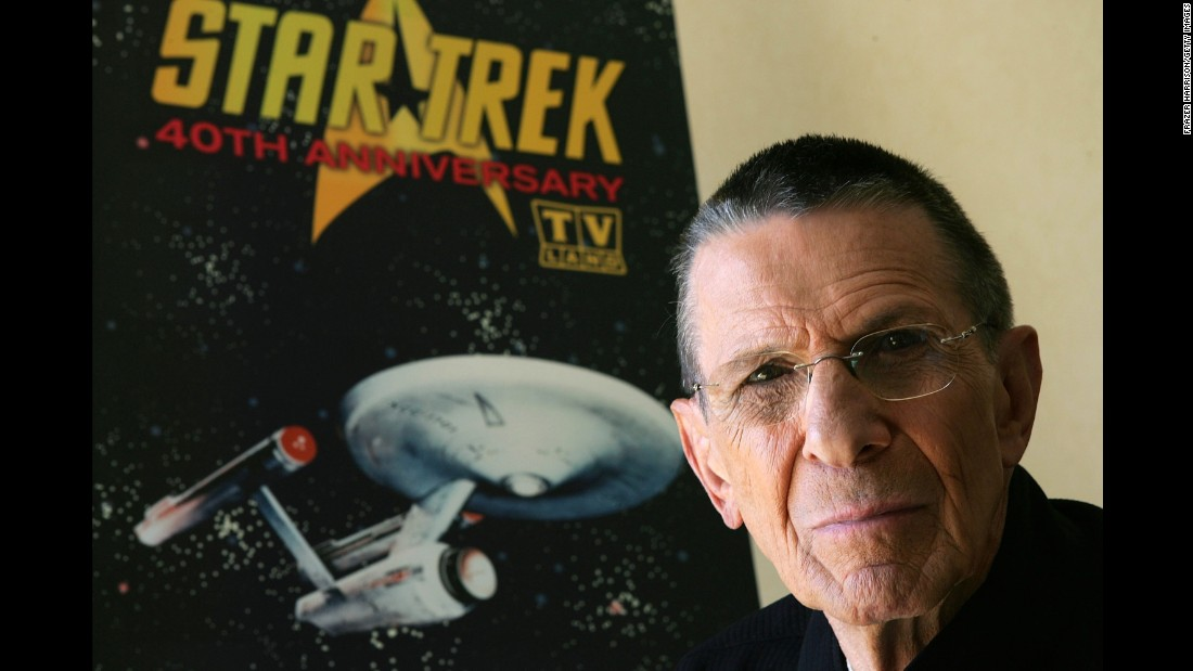 "Nimoy promotes the ""Star Trek"" 40th anniversary on the TV Land network in 2006."