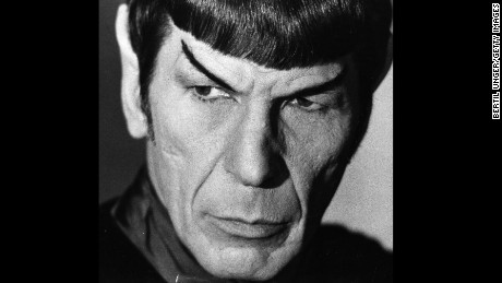 US actor, producer and director Leonard Nimoy as Mr Spock from the TV series 'Star Trek'.   (Photo by Bertil Unger/Getty Images)