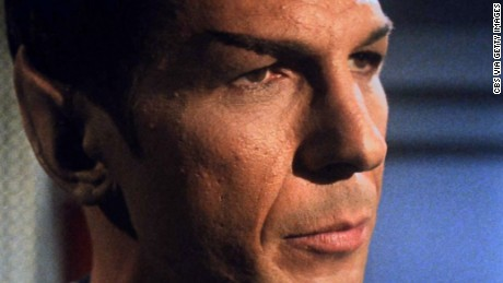 "LOS ANGELES - OCTOBER 20: Leonard Nimoy as Mr. Spock in the STAR TREK: THE ORIGINAL SERIES episode, ""What Are Little Girls Made Of?""  Season 1, episode 7.  Original air date, October 20, 1966.  Image is a frame grab. (Photo by CBS via Getty Images) *** Local Caption *** Leonard Nimoy"
