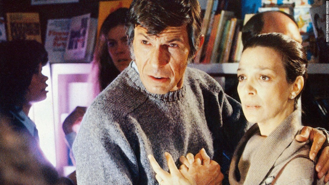 "Nimoy played a psychiatrist in the 1978 version of ""Invasion of the Body Snatchers,"" here with Lelia Goldoni."