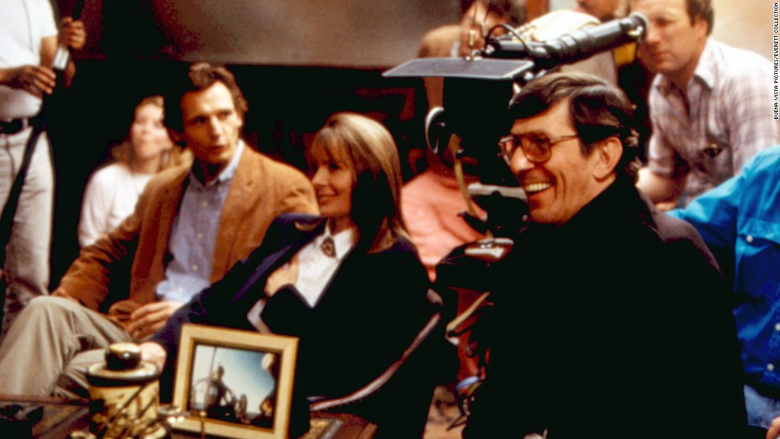 "Among the other films Nimoy directed was 1988's ""The Good Mother,"" starring Diane Keaton and Liam Neeson, far left."