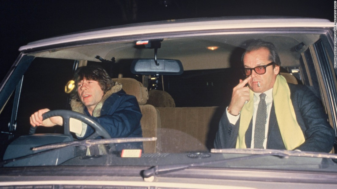Jack Nicholson catches a ride with Polanski in Paris in 1984.