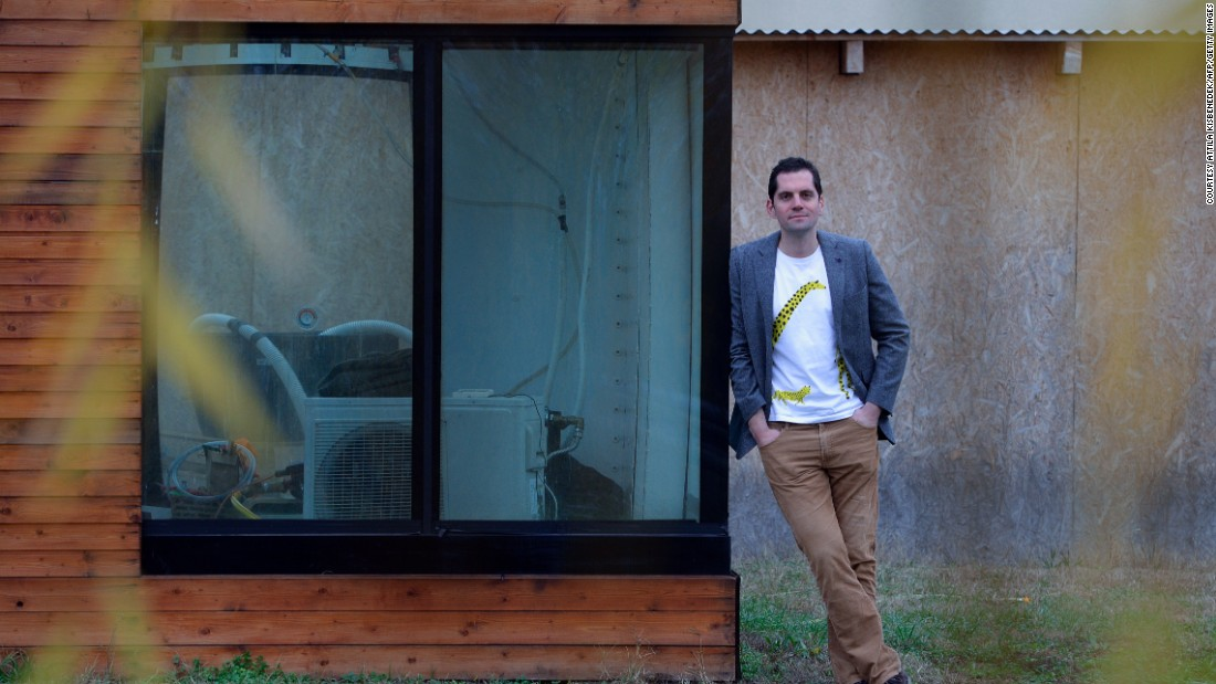Architect Matyas Gutai has built the world's first water house in his hometown of Kecskemet, Hungary.