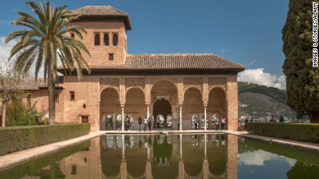 CTGF43 Portico and pool Alhambra Granada Sp