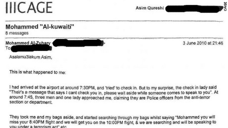 A sample of the emails exchanged between CAGE and Mohammed Emwazi.