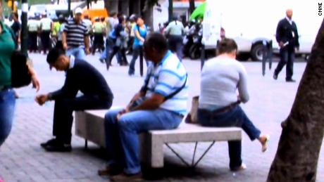 Venezuelans in Caracas, November 18, 2013