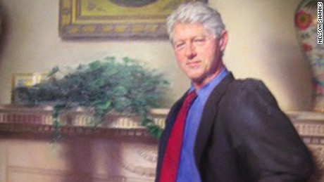 Clinton painted portrait