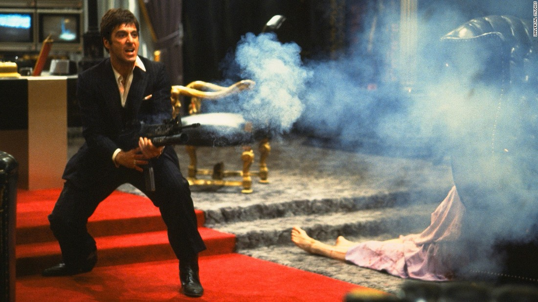 "<strong>""Scarface"":</strong> Al Pacino turns it up and turns it out as brutal drug lord Tony Montana in this violent classic. <strong>(Netflix) </strong>"