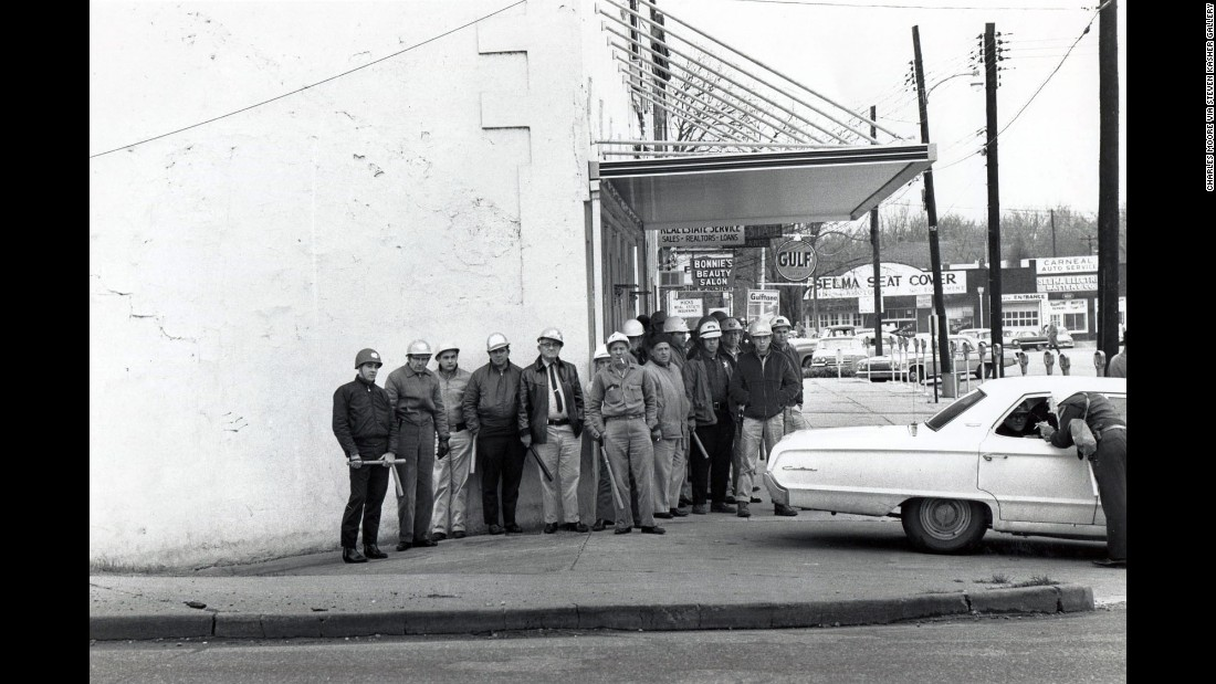 "Sheriff's deputies in Selma prepare to confront marchers on ""Bloody Sunday."""