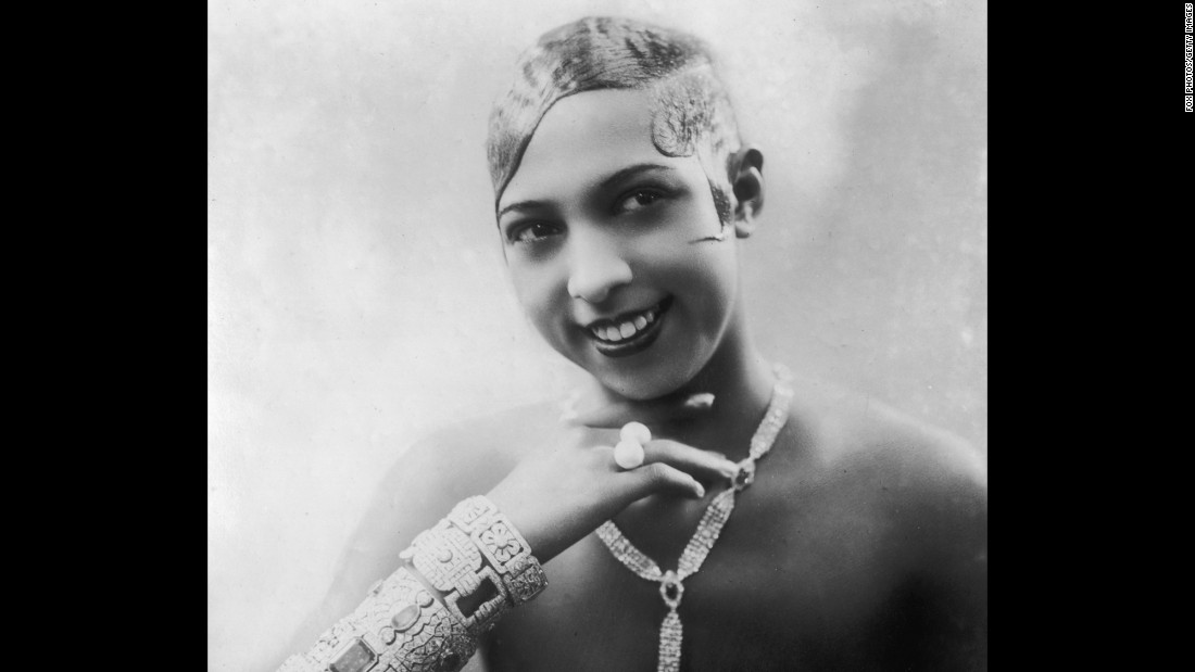 "Entertainer <a href=""http://www.cmgww.com/stars/baker/about/biography.html"" target=""_blank"">Josephine Baker</a> (1906-75) recorded one of her most famous performances in Paris' Folies-Bergère music hall wearing a skirt made of bananas. The concert hall is featured in the app."