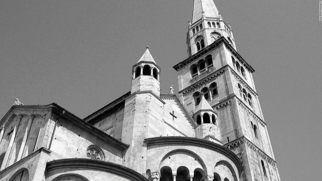 The bell tower of the Cathedral of Modena is a symbol of the town, visible from all directions outside the city borders.
