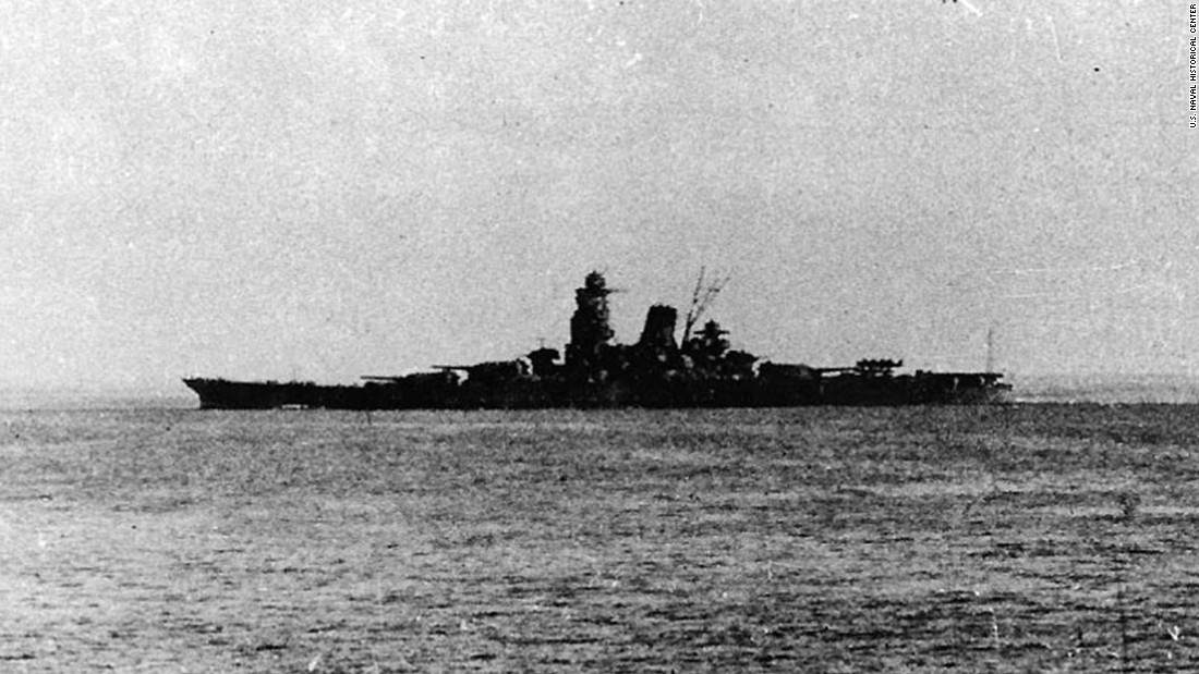 Musashi leaves Brunei, Borneo, in 1944.