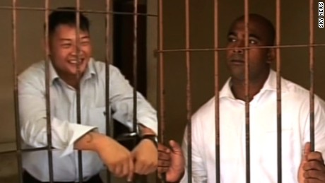 Andrew Chan (L) and Myuran Sukumaran, seen here in file pictures, have been transferred to Nusakambangan Island ahead of their planned execution by firing squad.