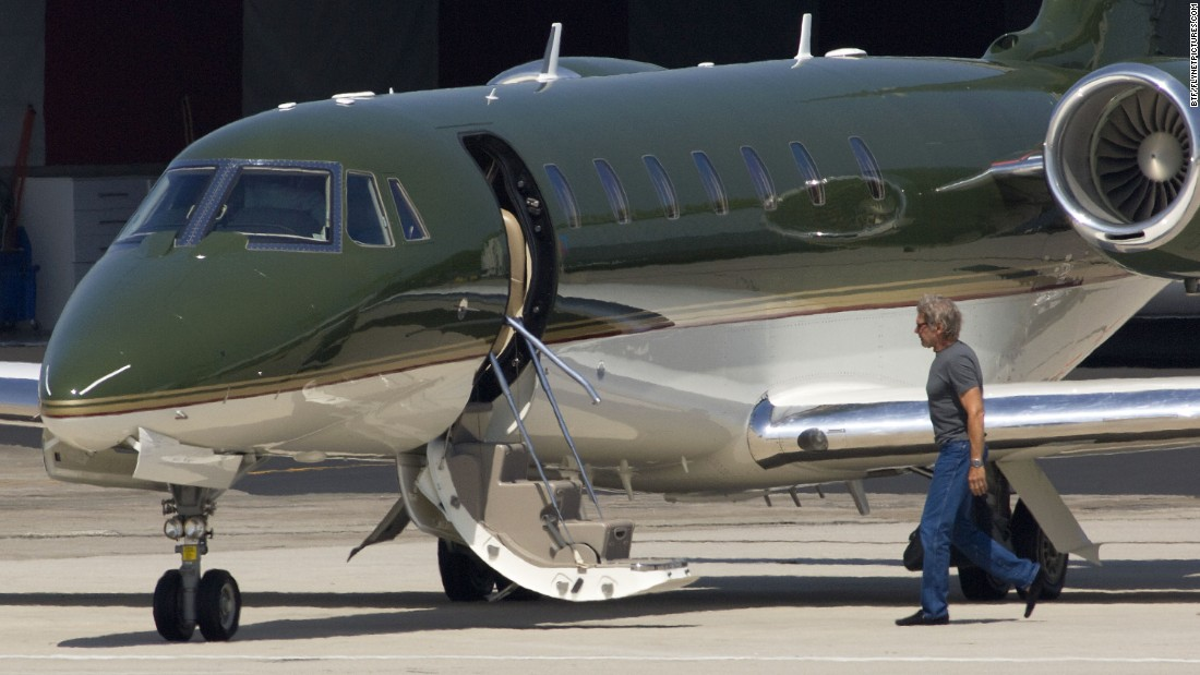 Ford readies his Cessna Citation twin-jet aircraft in Santa Monica, California, on July 19, 2010.