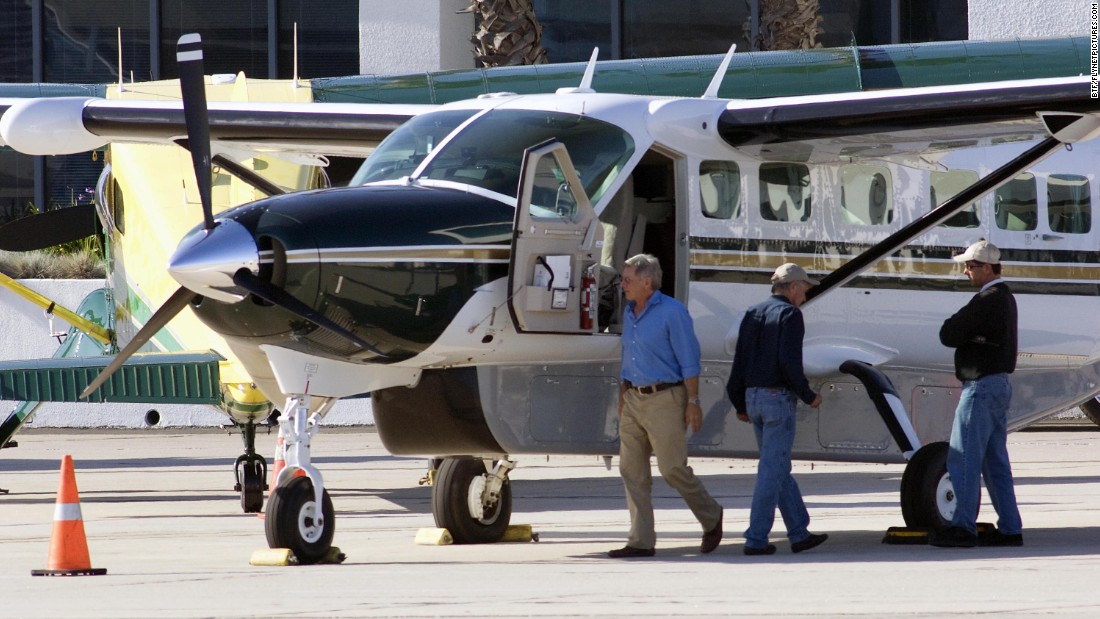 Ford prepares to fly a 12-seat Cessna on November 29, 2009.