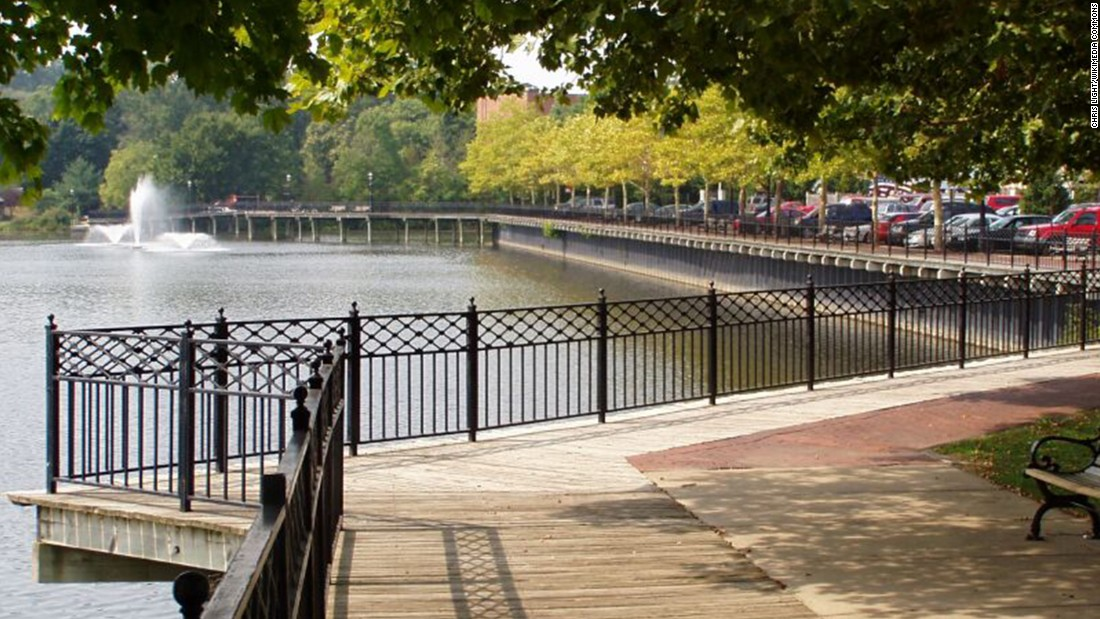 Allegan, Michigan, No. 4 on Budget Travel's list of small towns, boasts a tranquil boardwalk tracing the path of the Kalamazoo River.