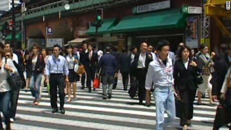 Street scene in Tokyo in May 2011