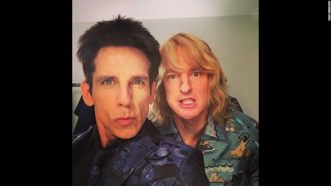 """Apparently Derek and Hansel have come to terms on #Zoolander2,"" <a href=""https://instagram.com/p/0DRKlAnMBb/?modal=true"" target=""_blank"">wrote actor Ben Stiller,</a> left, in character with fellow ""Zoolander"" star Owen Wilson on Tuesday, March 10. The two <a href=""http://www.cnn.com/2015/03/10/living/feat-zoolander-hansel-valentino/index.html"" target=""_blank"">made a surprise appearance</a> at Paris Fashion Week, dressed as the male models they played in the popular 2001 movie."