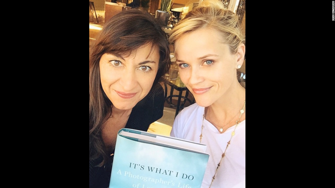 """So proud of my friend @lynseyaddario, who has written the most riveting memoir about being a female war photographer in places like Libya, Darfur, and Afghanistan,"" <a href=""https://instagram.com/p/z6Vb54Chcy/?modal=true"" target=""_blank"">said actress Reese Witherspoon,</a> right, in this selfie with Addario on Friday, March 6."