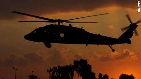 A U.S. Army Black Hawk helicopter lands in Baghdad, Iraq, Feb. 13, 2008. (U.S. Army photo by Sgt. Jerry Saslav) (www.army.mil)