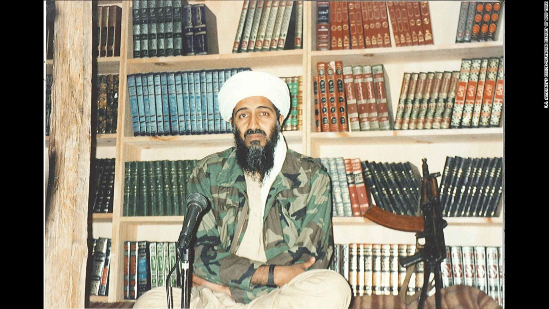 Bin Laden is seen inside his Tora Bora hideout, about to record an address.​ Starting in 1996, when he issued his first fatwa, or religious decree, to kill Americans, bin Laden began granting interviews to reporters to publicize his grievances against the United States and its allies.