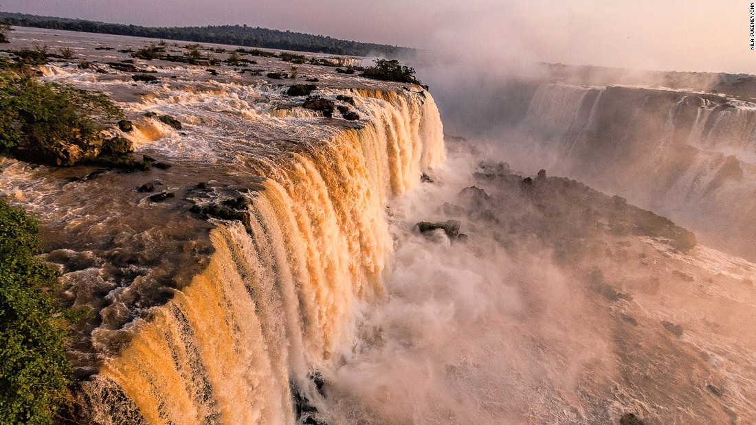 Iguazu Falls lie within Argentine territory, but views from the Brazilian side can be superior. When on the Brazilian side, take the lift at the bottom of Salto Floriano falls to get a spectacular outlook of the waterfalls. Helicopter rides are also available from just $115.