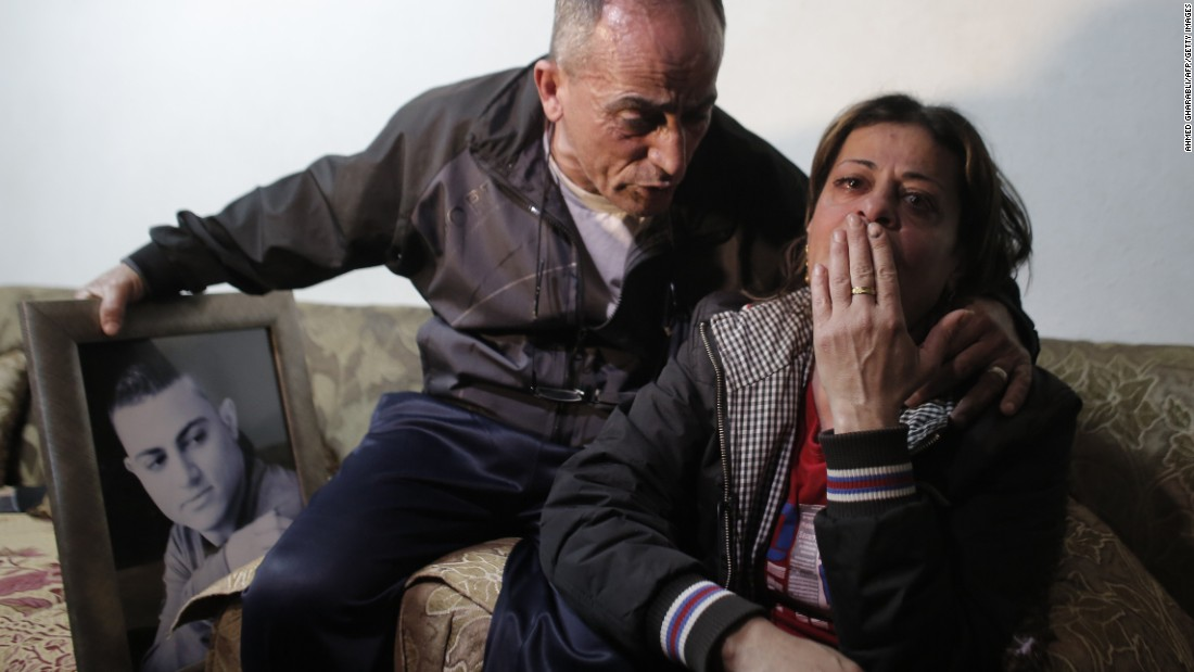 "The parents of 19-year-old Mohammed Musallam react at the family's home in the East Jerusalem Jewish settlement of Neve Yaakov on Tuesday, March 10. <a href=""http://www.cnn.com/2015/03/10/middleeast/isis-video-israeli-killed/"">ISIS released a video purportedly</a> showing a young boy executing Musallam, an Israeli citizen of Palestinian descent who ISIS claimed infiltrated the group in Syria to spy for the Jewish state. Musallam's family told CNN that he had no ties with the Mossad, Israel's spy agency, and had, in fact, been recruited by ISIS."