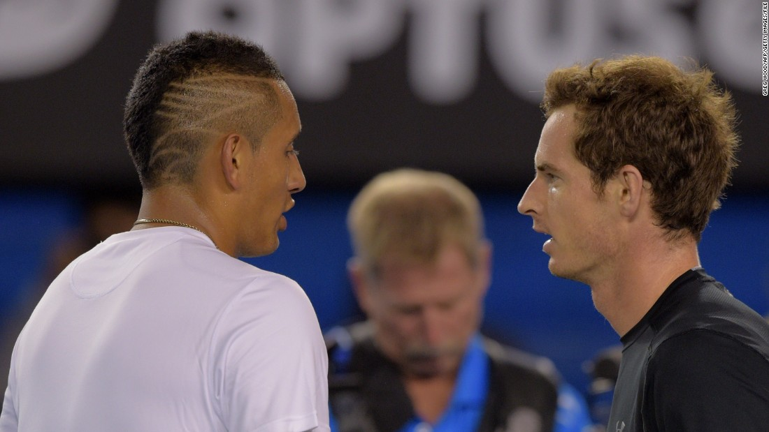 Australia's rising star Nick Kyrgios likes to keep his hair short too -- with a snazzy twist.