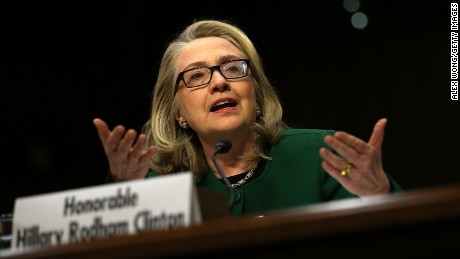 Clinton testifies before the Senate Foreign Relations Committee on Capitol Hill on January 23, 2013. Lawmakers questioned the former Secretary of State about the security failures during the September 11, 2012 attacks against the U.S. mission in Benghazi, Libya, that led to the death of four Americans, including U.S. Ambassador Christopher Stevens.