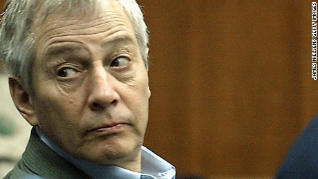 Robert Durst appears in court in Galveston, Texas, during his murder trial in 2003.