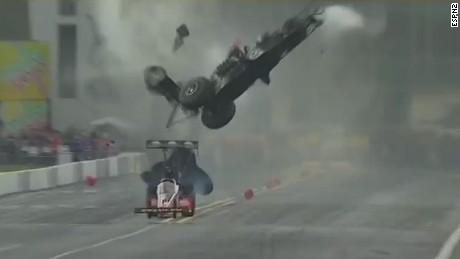 Frightening drag race crash caught on camera  CNN Video