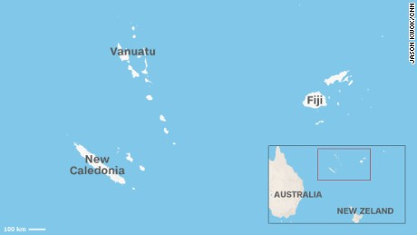 Map: The islands of Vanuatu