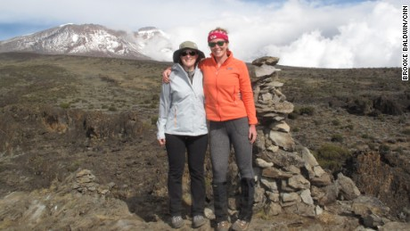 Brooke and her adventure travel partner-in-crime, Allison Ratajczak, pause along the way.