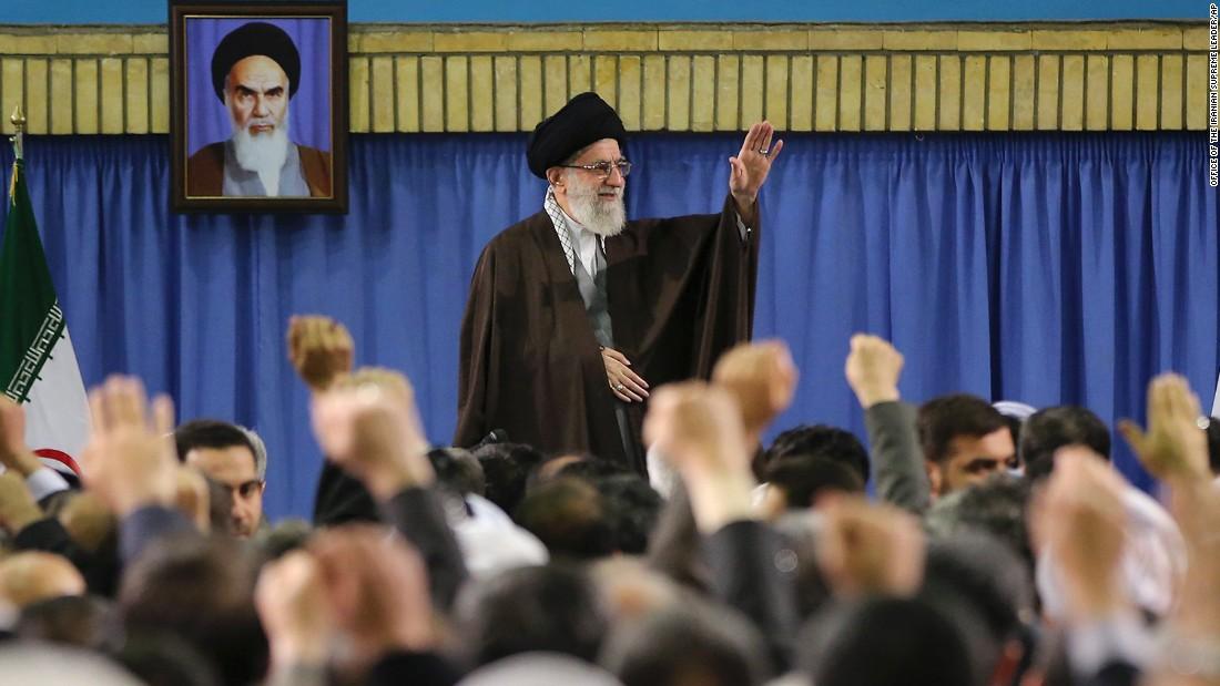 Iranian Supreme Leader Ayatollah Ali Khamenei meets with environmental officials in Tehran, Iran, on Sunday, March 8.