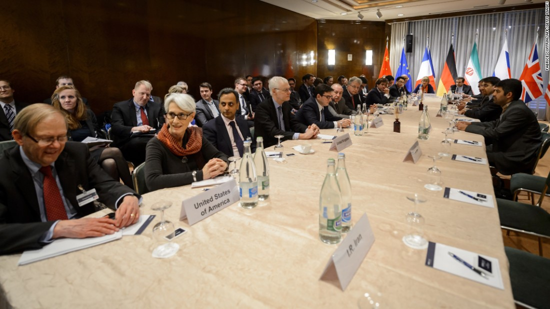 Iran and world powers comprising the P5+1 negotiating team meet in Montreux, Switzerland, on Thursday, March 5.