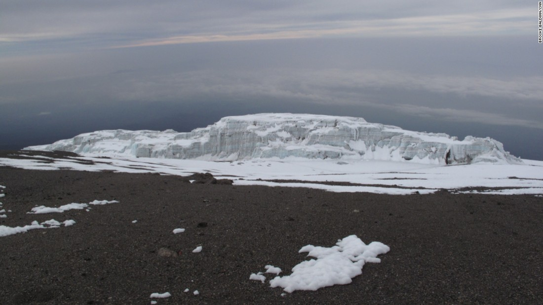Kilimanjaro is topped with several glaciers, which experts predict will melt within the next two decades.
