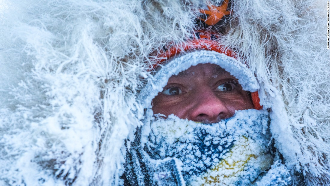 Dog musher Hugh Neff arrives in Kaltag, Alaska, as he competes in the Iditarod sled dog race on Sunday, March 15.